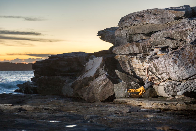 Martijn van Eijkelenborg, bouldering, Cape Banks, Sydney