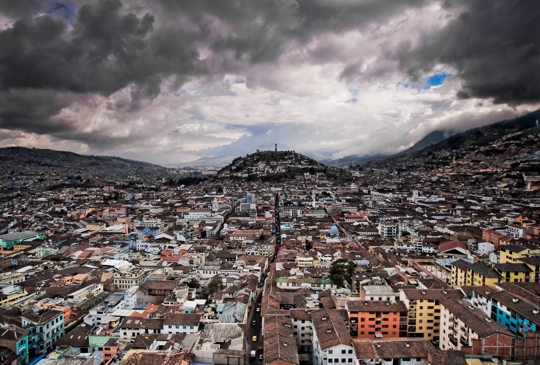 Storm clouds over Quito, Ecuador