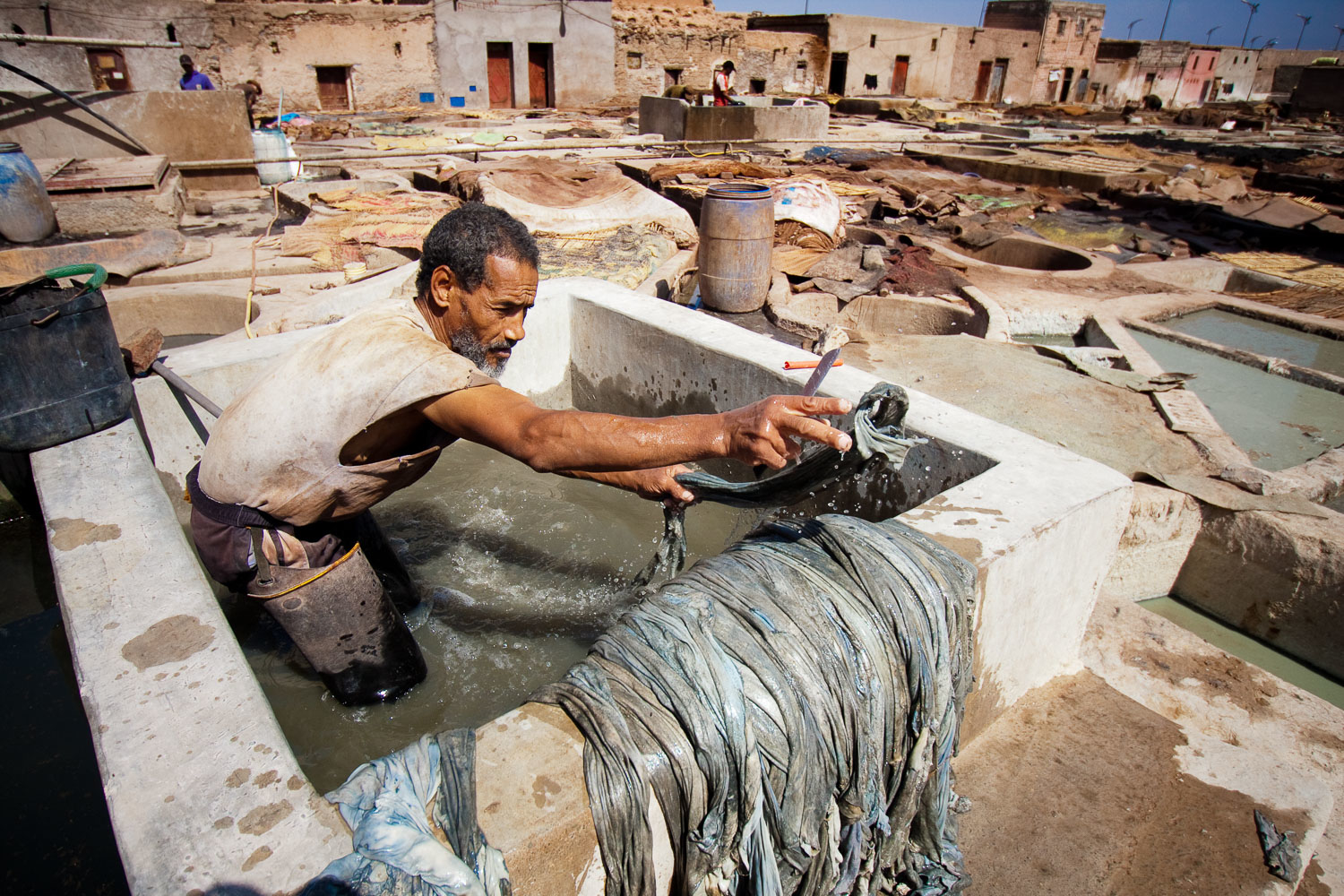Tannery Worker, Marrakesh, Morocco