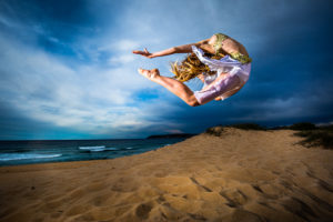 Dancer Pippa Ravenscroft, Curl Curl, Australia, Richard McGibbon photography