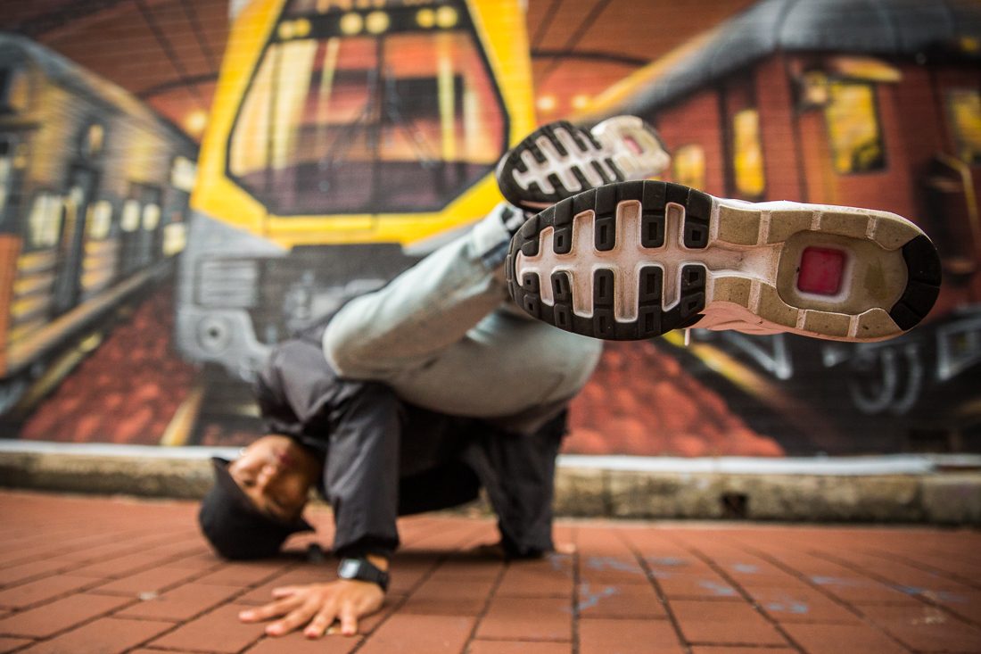 Shinnosuke Yoshida, Bboy portrait, St. Peters, Richard McGibbon Photography