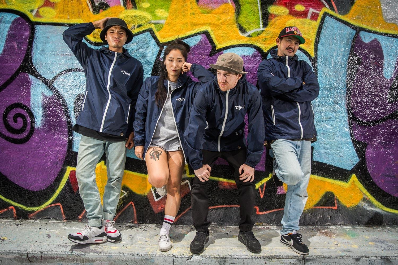 BBoys and BGirl of Ryugi Urban Dance crew