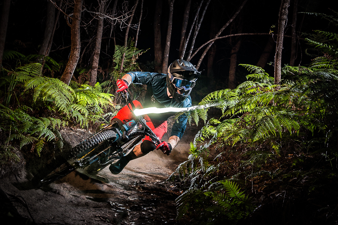 Dragging light with James Hall, EWS rider